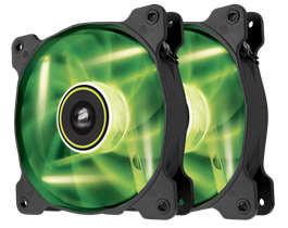 Ventilador Corsair Air Series SP120 LED Green High Static Pressure 120mm Fan Twin Pack