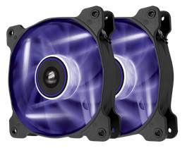 Ventilador Corsair Air SP120 Purple High Static Pressure 120mm Fan Twin Pack