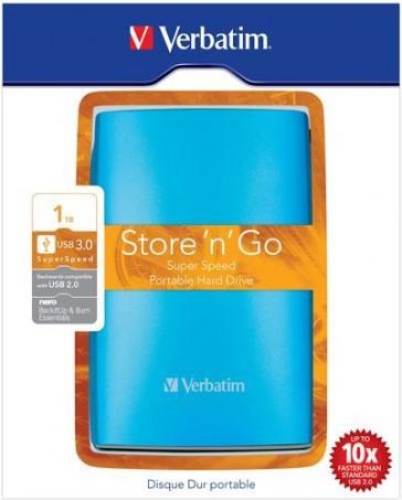 """Disco Duro Externo Verbatim USB 3.0 - 500Gb 2.5"""" - Azul"""