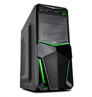 Caja NOX ATX PAX 3.0 negra/verde
