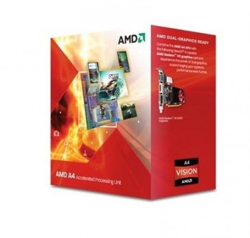 Procesador AMD A4 X2  5300 - 3,40 Ghz Box FM2