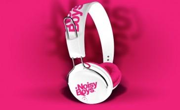 Auriculares On Earz Lounge Noisy Boys White Fushia