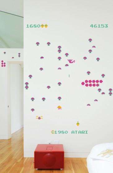 Pegatinas de pared gigantes: Centipede