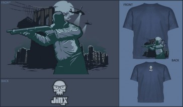 Camiseta Jinx Crime in the City Denim - Talla XL