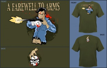 Camiseta Jinx A Farewell to Arms Military - XL