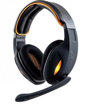 Auriculares NOX S7VEN 7.1 USB Negro/Naranja