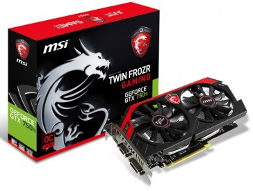 MSI GeForce GTX750Ti TwinFrozr IV OC - 2GB - GDDR5