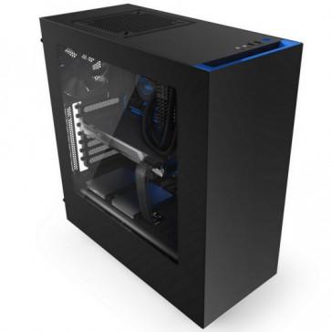 Caja NZXT S340 Negra-Azul