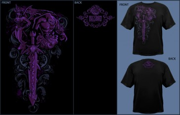 Camiseta Jinx WOW Warlock Legenday Class - Talla L