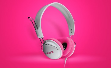 Auriculares On Earz Lounge White Fushia