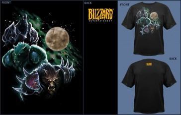 Camiseta Jinx WOW Three Worgen Moon - Black - L
