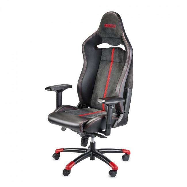 Comprar silla sparco gaming comp c carbono negra roja for Poltrona ufficio sparco