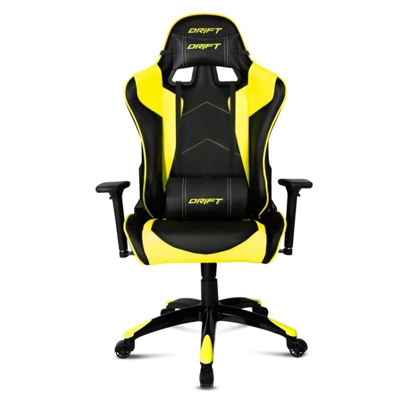 Comprar silla gaming drift dr300 negra amarilla en for Donde comprar una silla gamer