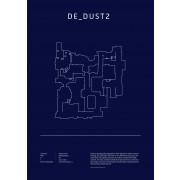 Poster CS:GO Coleccionista - de-dust2