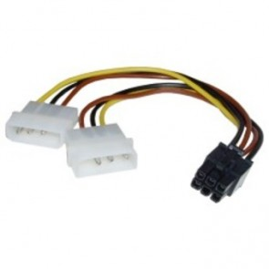 Cable 2x Molex a PCI-E 6P