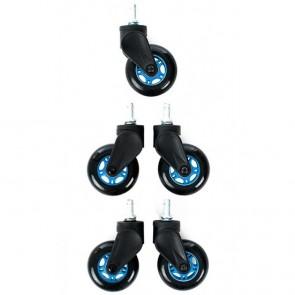 Ruedas DXRacer Blade - SP/0705/NB  - Negra Azul