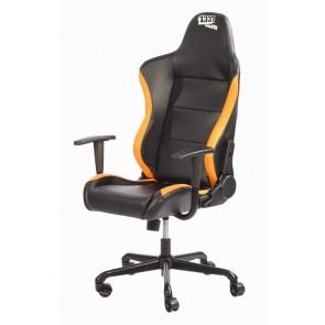 Silla Gaming 1337 Industries GC727 - Negra Naranja