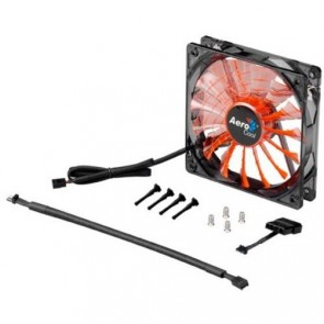 Ventilador AeroCool Shark - Orange Led - 120 mm