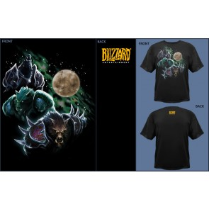 Camiseta Jinx WOW Three Worgen Moon - Black - S